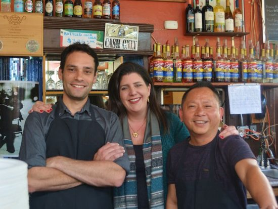 3 members of the 3rd generation owners of Cafe Trieste San Francisco