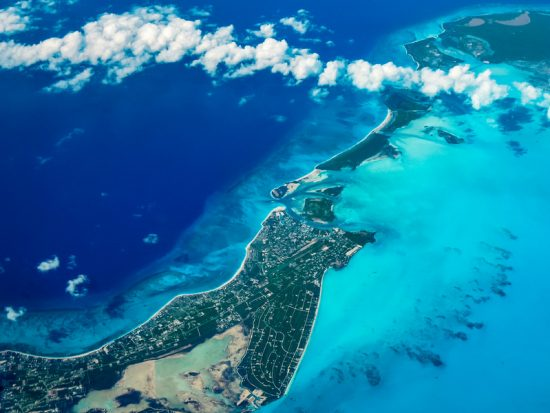 Aerial view of Turks and Caicos Islands